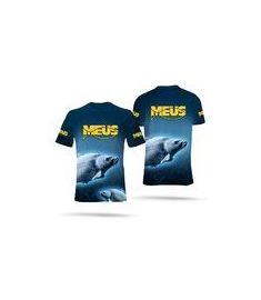 Meus Koszulka Granatowa Full Print NOWOŚĆ