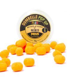 Dumbells Fluo Pop Up 8mm Czekolada & Pomarańcza MINIS